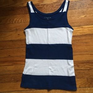 Anne Taylor blue & white stripped tank gold small